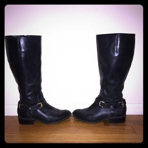 RALPH LAUREN leather Marion wide riding boots